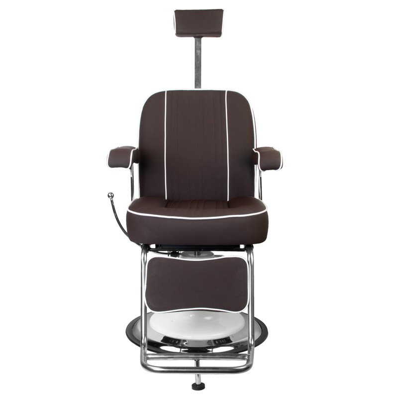 Barber Chair Frisörstuhl unisex TOMMY Make Up Stol i brun