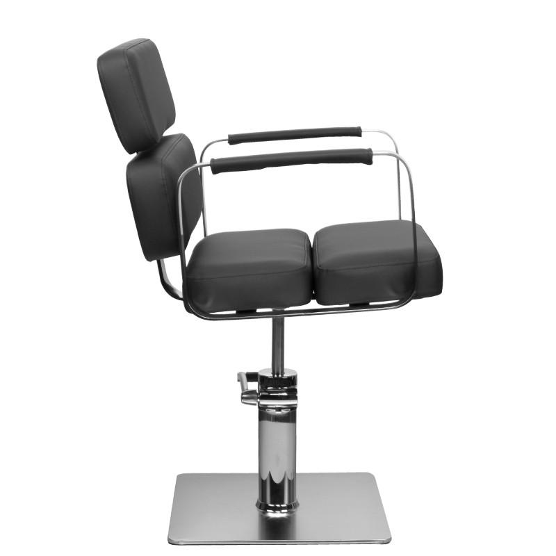 Frisörstol Kundstol i svart Make Up Stol