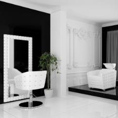 Arbetsbord Frisörspegel Glamour färgval Made in Europe med Swarovski