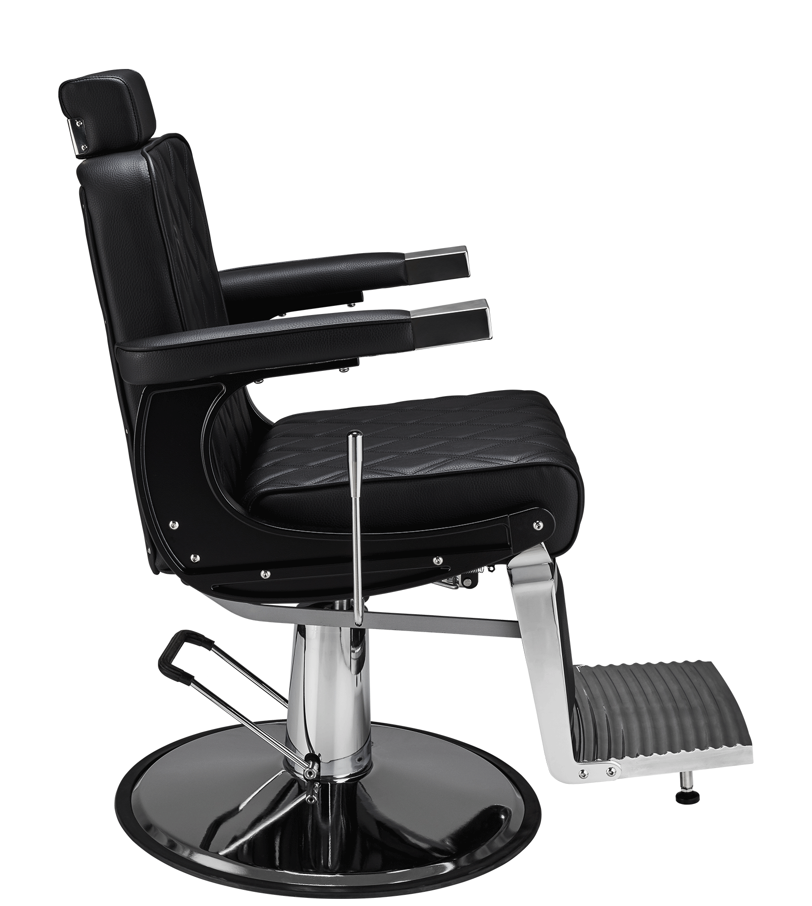 Barber Chair Duke i svart Herrklippstol