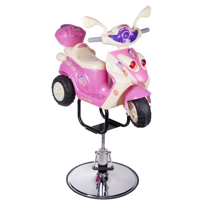 Barnklippstol RACER Pink