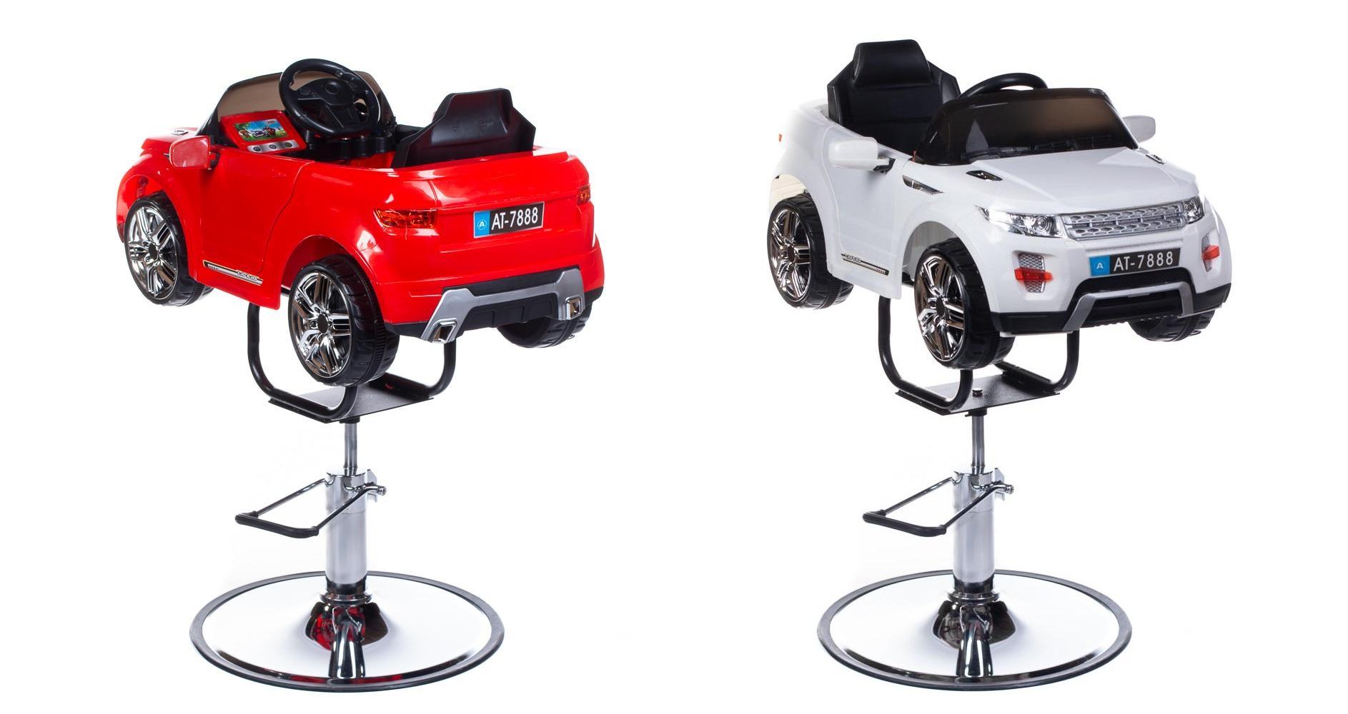 Barnklippstol SUV röd eller vit med Multimedia