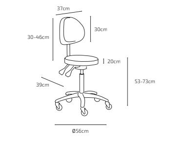 Arbetsstol RITA med Speedhjul