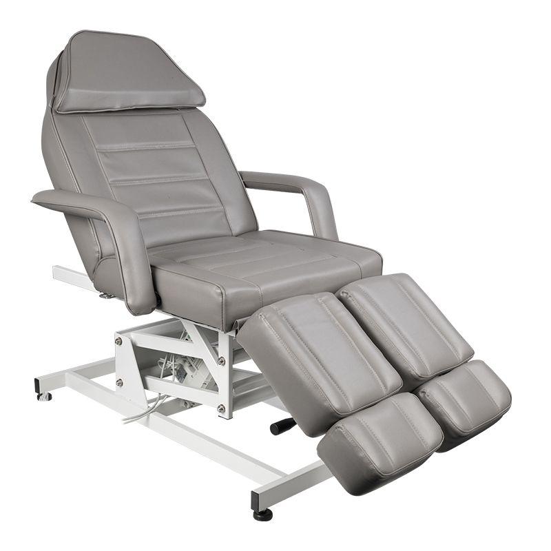 Fotvårdstol med 1 motor i grå