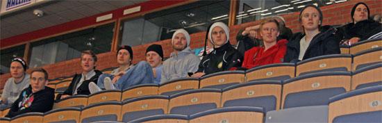 Intresserad publik ser Riksserien Linköping-Ormsta/SDE 23 jan 2011 Cloetta Center