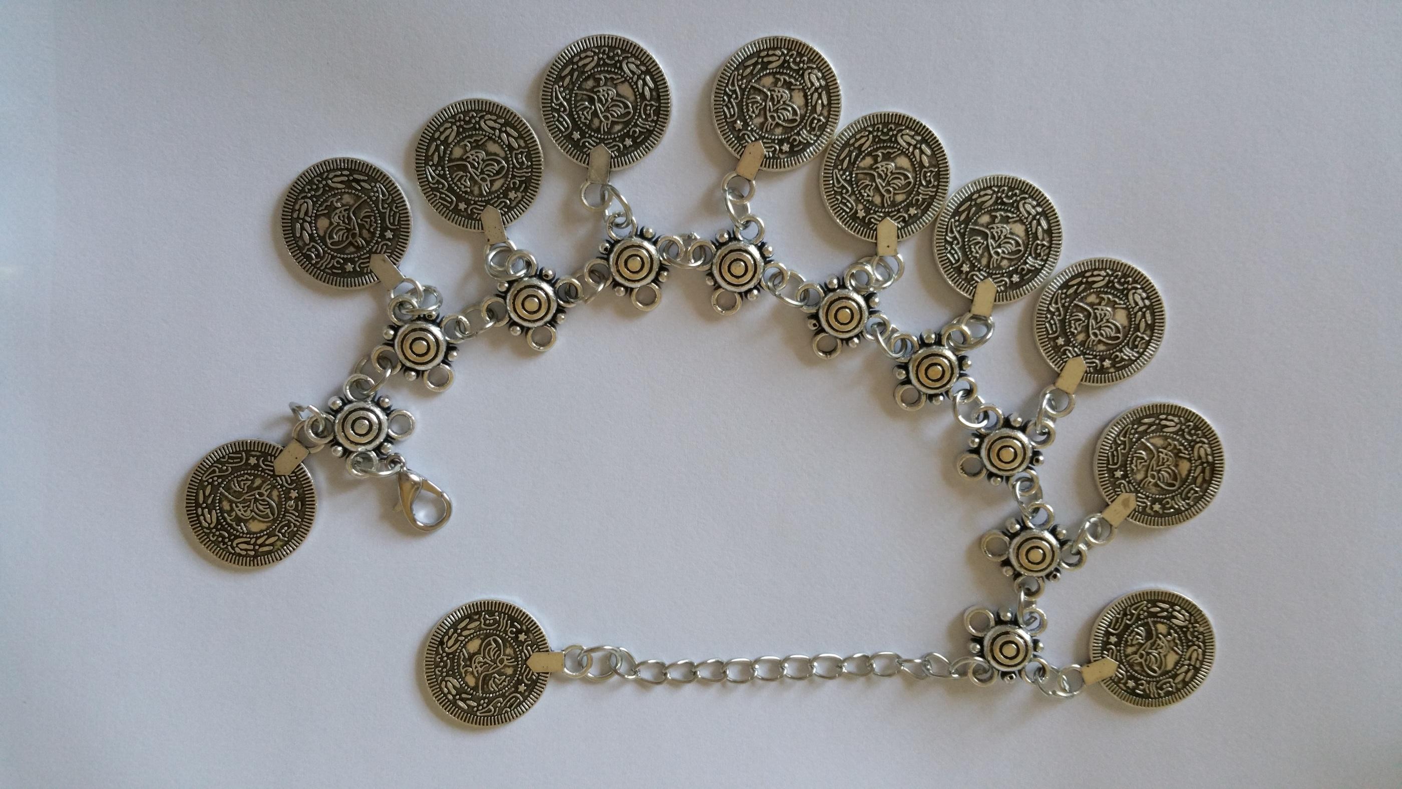 Fotkedja i silvermetall