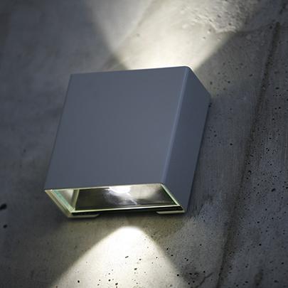 Modern utomhusbelysning - Kollektion Klint - Modell 2, vägg LED - hos Alegni Interiors Stockholm