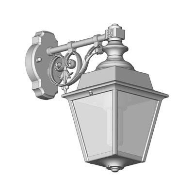 Klassisk utomhusbelysning - Kollektion Chenonceau - Modell 3, vägg hängande  arm  - hos Alegni Interiors Stockholm