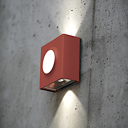Modern utomhusbelysning - Kollektion Klint - Modell 1, vägg LED - hos Alegni Interiors Stockholm