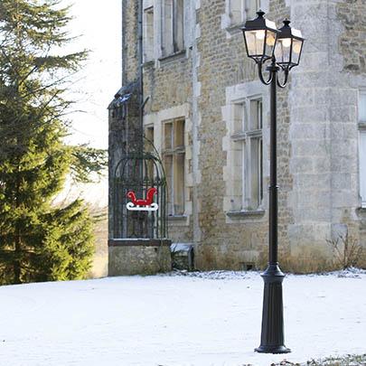 Klassisk utebelysning - Kollektion Place des Vosges 1 Évolution  - Modell 13, lyktstolpe med dubbla lykthus