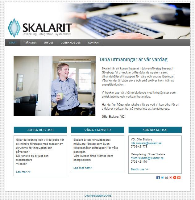 28ec3b0fe1c6 Hjälp med ny hemsida för Skalarit i Göteborg | webbyrå - hemsidor ...