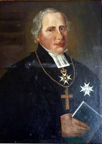 Emil Stenhammar berättar att Stiftsantikvarien i Visby har hävdat att porträttet som hänger i trapphuset på stiftskansliet i Visby skulle föreställa någon annan, men prosten Anders Jernberg hävdar bestämt att det är Hallström. Bilden är beskuren.