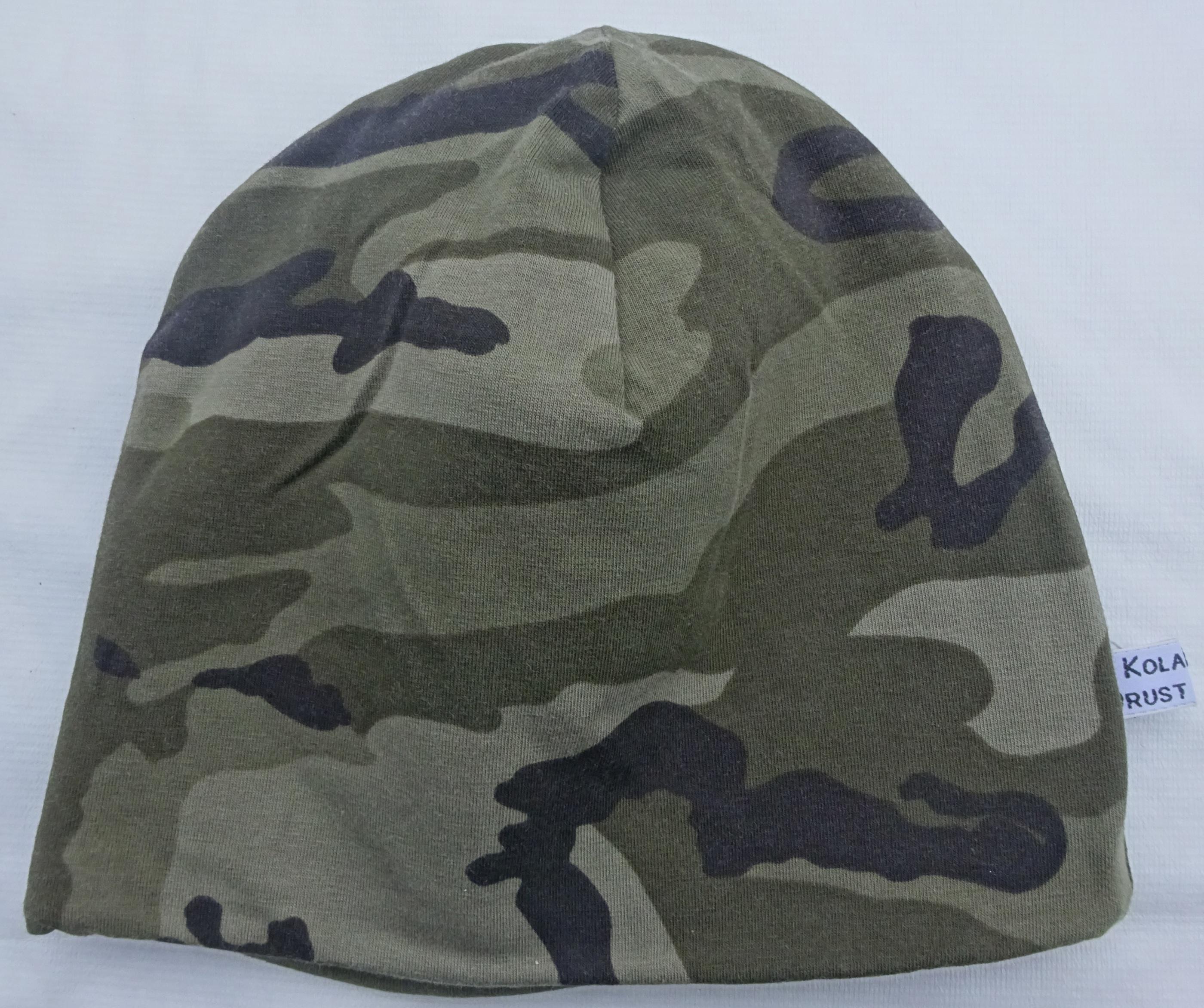 Camouflage Grön Fodrad Trikåmössa