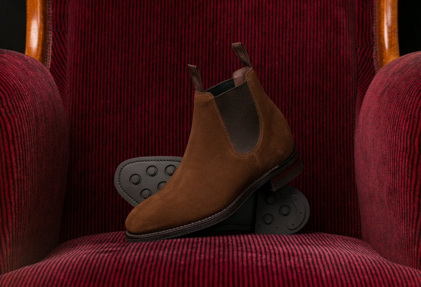 Loake Chatterley Brown Suede