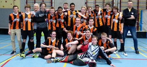 Kraainem Tigers U19 - Belgian floorball champion 2016/17