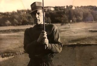 Albert senior på Lagmatch, Hovås mot Kevinge i oktober 1947
