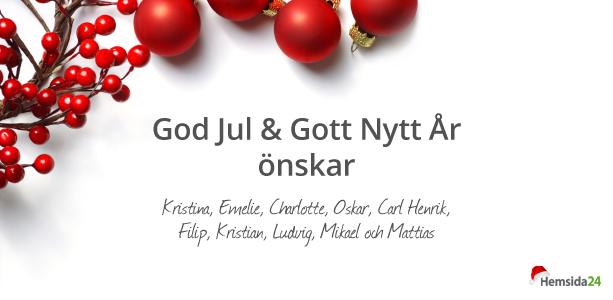 ny år hälsningar God Jul & Gott Nytt År | Hemsida24 ny år hälsningar