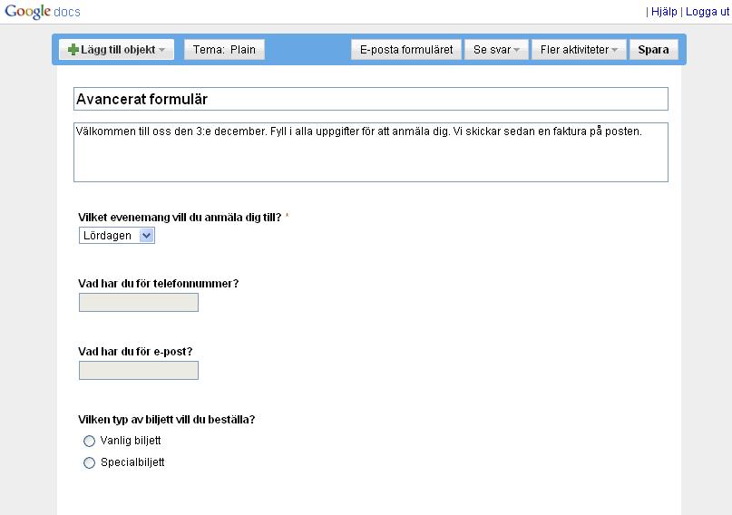 Avancerade Formul 228 R Med Google Docs Hemsida24