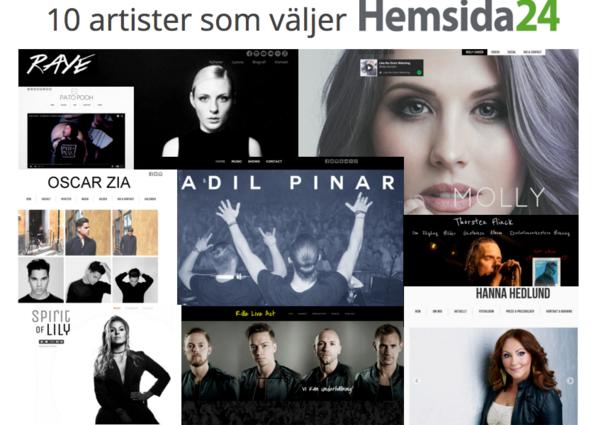 Hemsida24, Hanna Hedlund, Molla Sandén, Thorsten Flinck, Spirit of lily, adil pinar, raye, oscar zia, pato poch