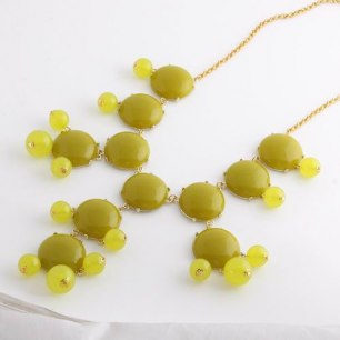 Gult bubble necklace!