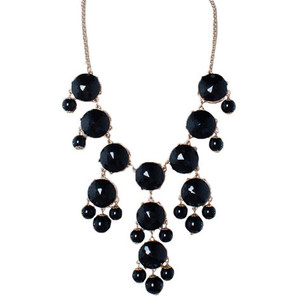 Svart bubble necklace