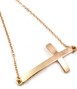 Armband med kors i guldpläterning