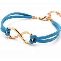 Infinity-armband i blått