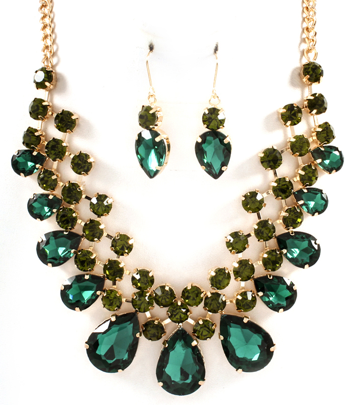 STATEMENT GREEN GOLD RHINESTONE  88718d2b0e8fc