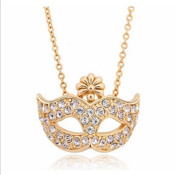 maskerad halsband guld