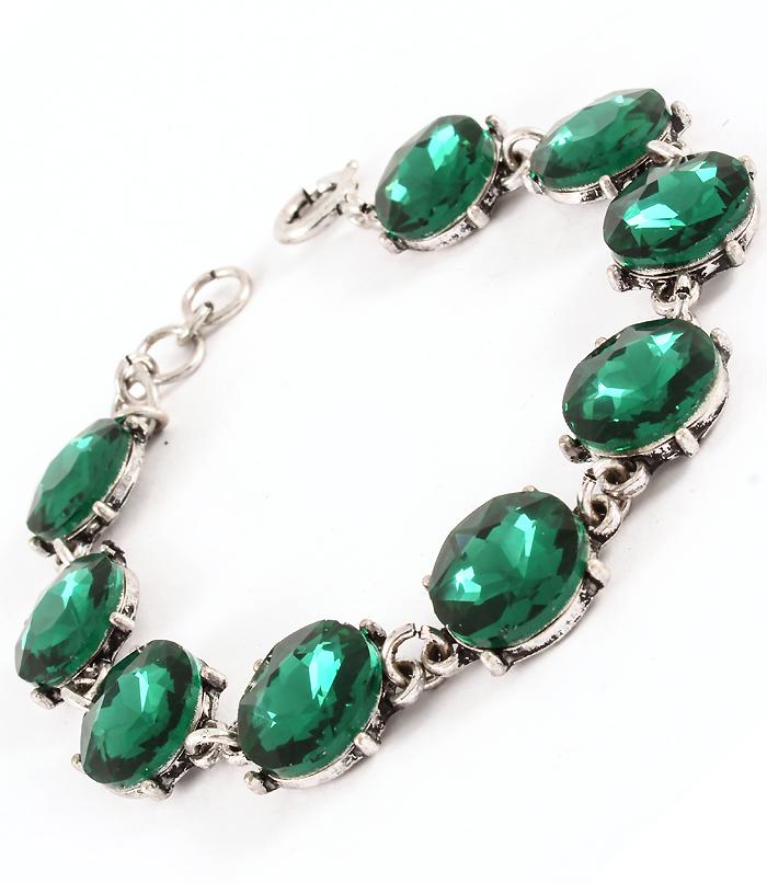 armband gröna sten