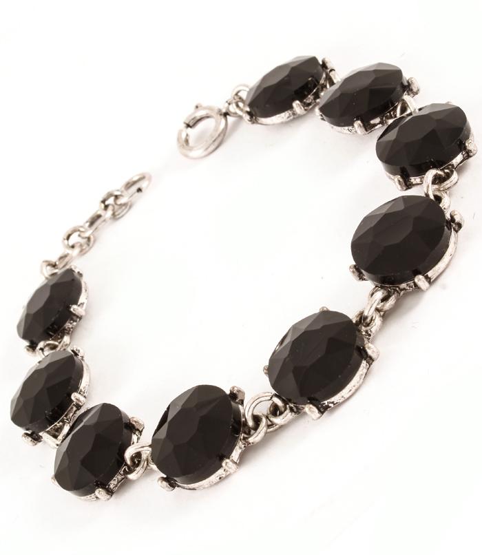 armband svarta stenar