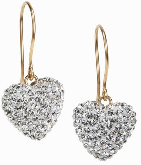 """Swarovskiörhängen """"LOVE"""" från Luxury Details i 18k guld"""