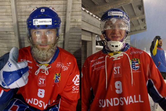 Skägget Norberg nöjd och Fredde Wilsson skulle ha behövt vindrutetorkare.