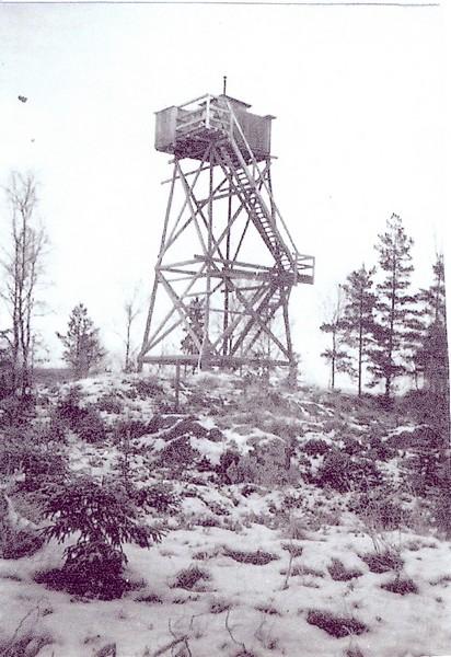 Från Bygdeband Dhf20608.jpg Bevakningstorn, fanns på berget intill Svartå Metodistkapell