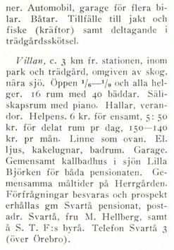 Källa Vilo och kurorter i Sverige 1925