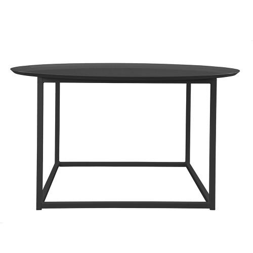 Domo round square table Svart