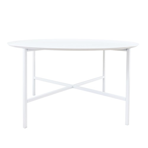 Domo round cross table White
