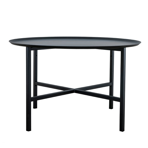 Domo round cross table Svart