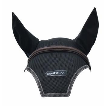 EarBonnet Horse size svart - Svart