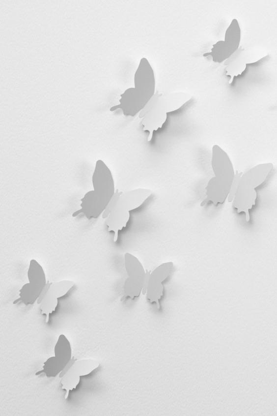 Dekorationsfjärilar enfärgarde
