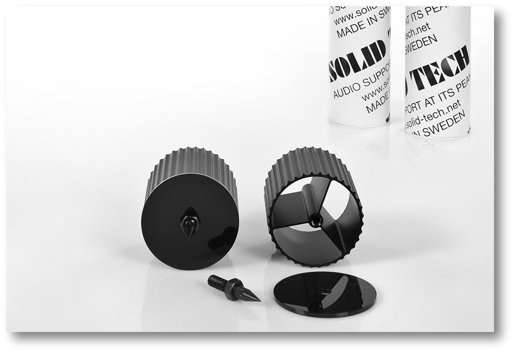 Corner-Pillars Black Anodised Plus Spikes and Acrylic End-Cap 65,5mm