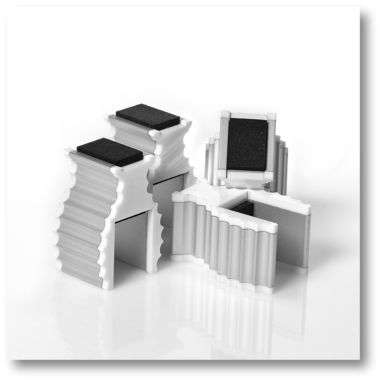 Apparatus-Supports White Trim 4/pack