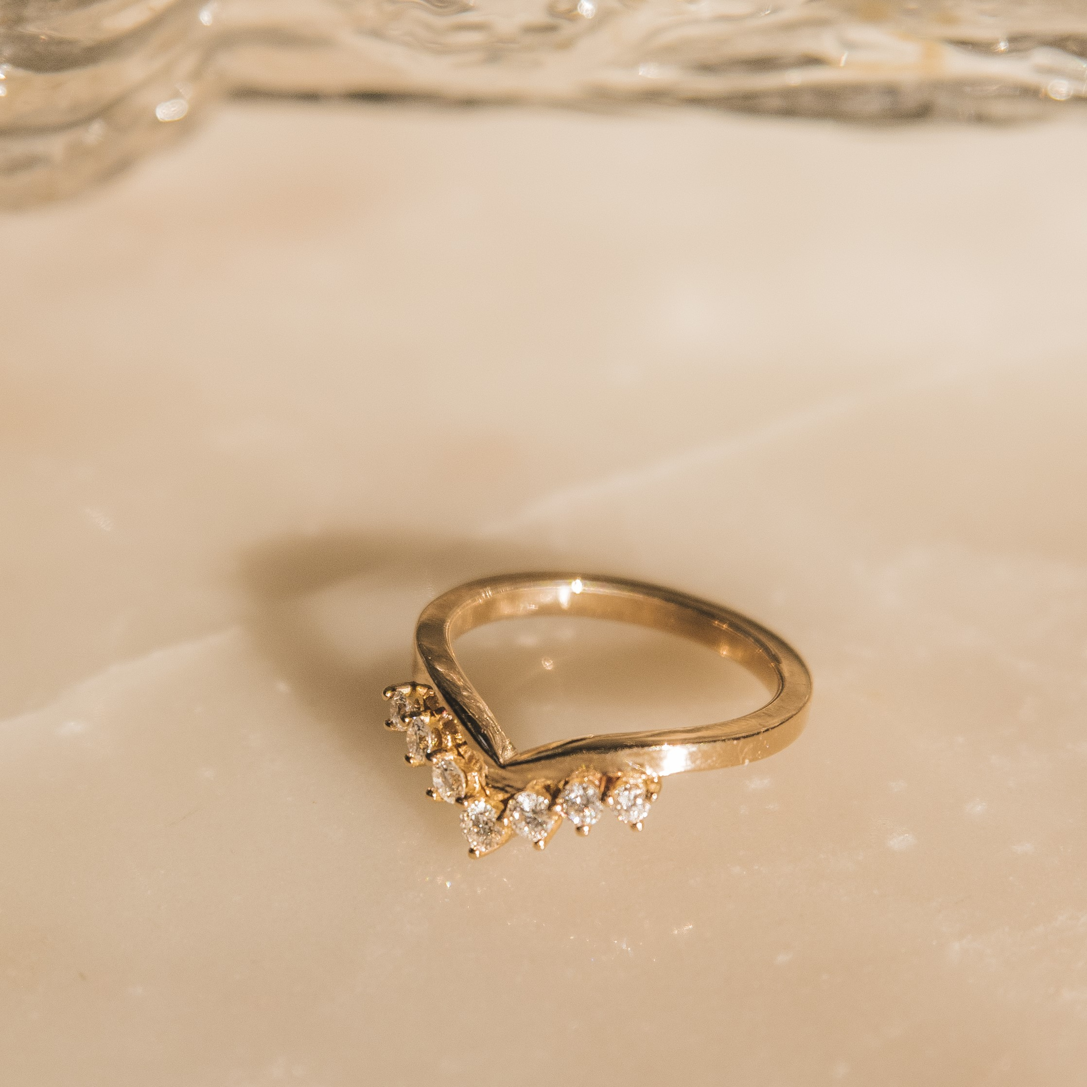 V-ring guld