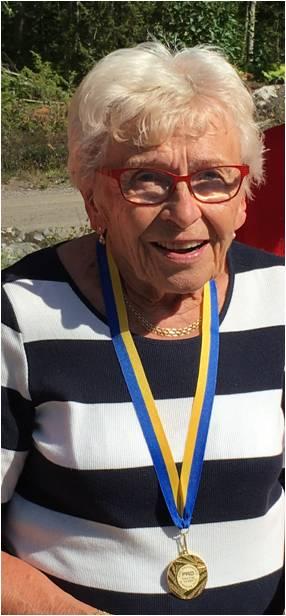 Elsa Nilsson, Hällefors PRO, Mästare i klassen D80 medel.