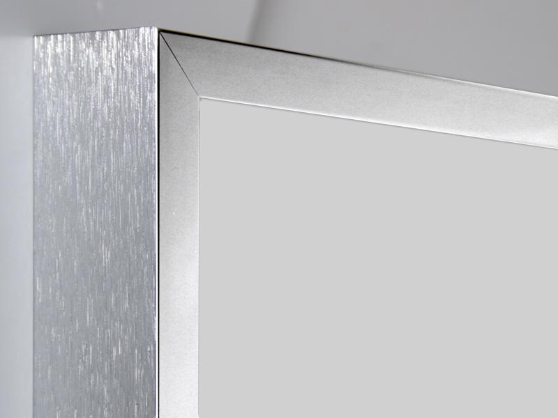 Aluram 10mm rektangulär polerad - borstad sida