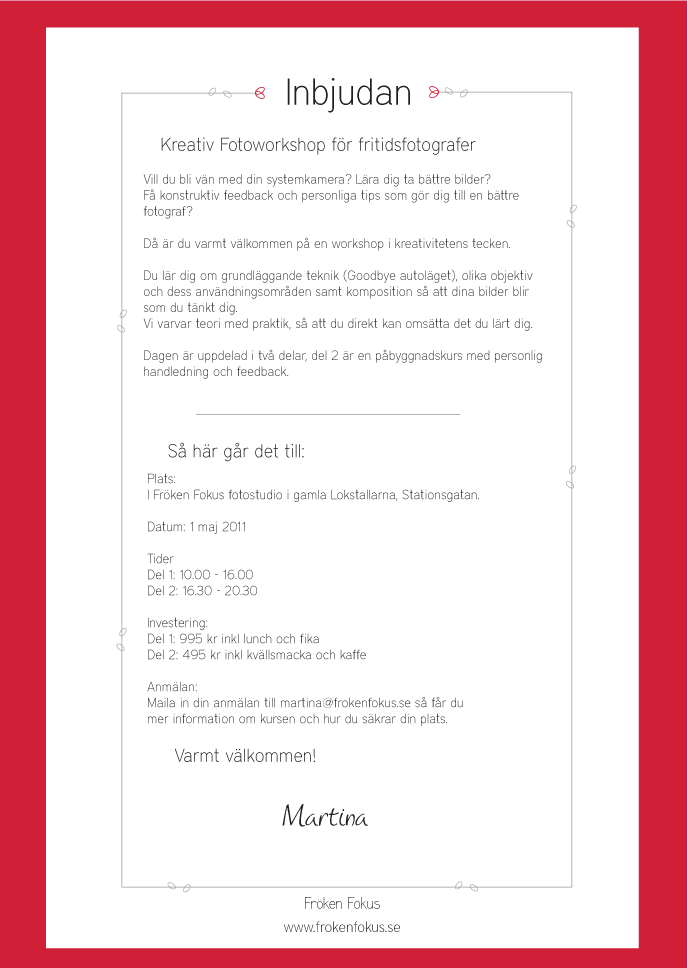 37e44bd1b47a Kreativ Fotoworkshop - datum spikat! | Fröken Fokus - fotograf ...