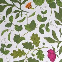 Tyg Botanica 100% Ekobomull Formgivare Maria Åström