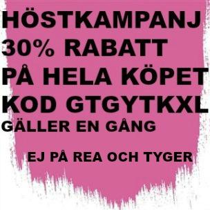 10A Höstkampanj 30% rabatt (gäller ej rea och tyger) KOD. GTGYTKXL