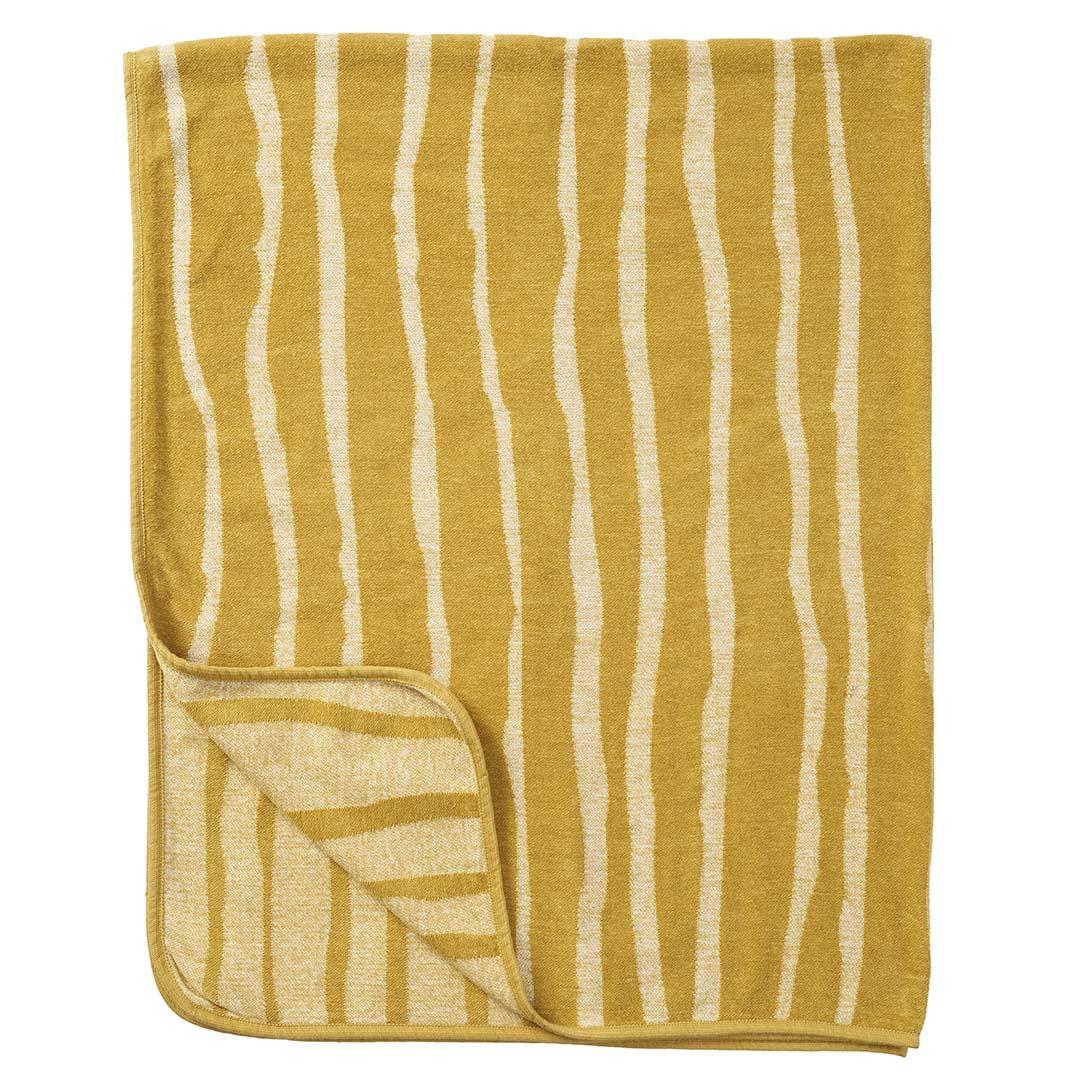 Klippans Yllefabrik Chenillefilt Bamboo 2559-02 Yellow