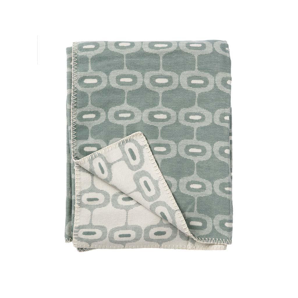 Klippans Yllefabrik Borstad bomullsfilt Doris (organisk) 2614-04 Emerald